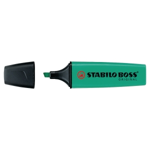 Marcador fluorescente cor turquesa STABILO BOSS