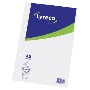 NOTESBLOK MED TERNET PAPIR A5 LYRECO 80 ARK 60 G