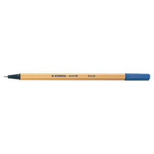Stabilo Point 88 Fineliner Blue Pens 0.4mm Line Width - Box Of 10