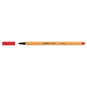 Stabilo Point 88 fineliner 0,4mm rood