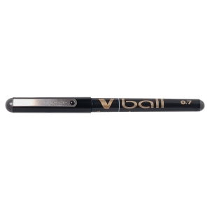 PILOT V-BALL ROLLER BALL BLACK PENS 0.7MM LINE WIDTH - BOX OF 12
