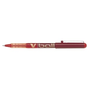 Roller encre liquide Pilot v-ball pointe moyenne rouge