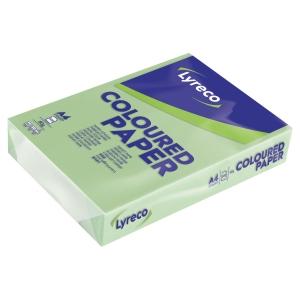 Ramette 500 feuilles papier Lyreco A4 80g vert jade