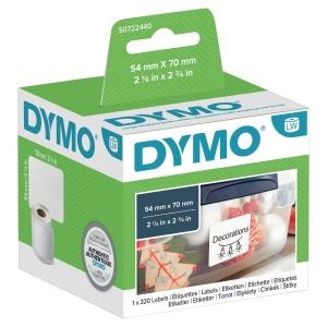 ETICHETTE DYMO IN CARTA BIANCA TERMOSENSIBILE 70x54 MM - ROTOLO DA 320