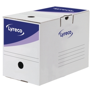 Lyreco White Automatic Transfer File H245 X W200 X D338Mm - Box Of 20