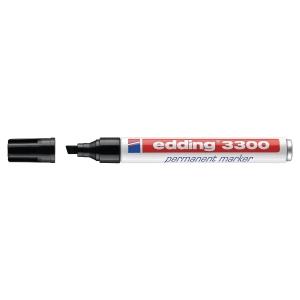 Permanent Marker Edding 3300, Keilspitze, Strichbreite 1-5 mm, schwarz