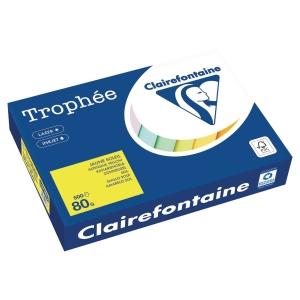 Ramette 500 feuilles papier trophée clairefontaine A4 80g jaune soleil fsc
