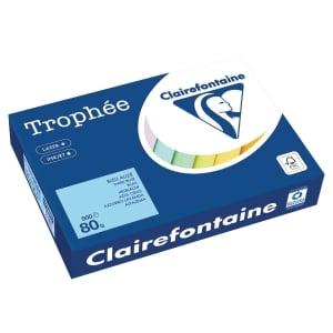 Ramette 500 feuilles papier trophée clairefontaine 80g A4 bleu alize fsc