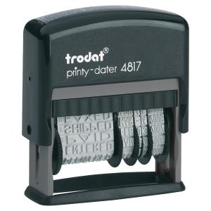 Tampon multi-formules Trodat printy 4817 encrage auto 3.8 mm