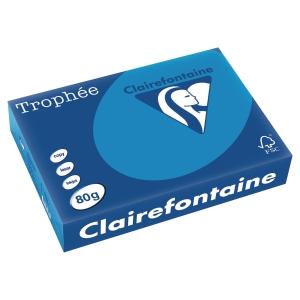 Trophee Farbpapier, A4, 80 g/m², karibikblau, 500 Blatt