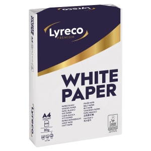 Lyreco Premium White A4 Paper 80gsm - Box of 5 Reams (5 X 500 Sheets of Paper)