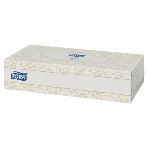 Papierové vreckovky Tork Premium, 2-vrstvové, biele