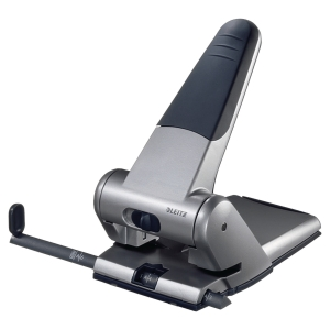 LEITZ 5180 HEAVY DUTY PUNCH SILVER 65 SHEETS