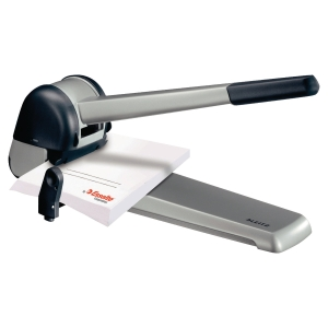 Leitz 5182 heavy 2-hole punch gray/black 250 sheets