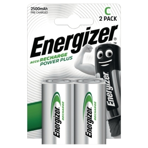 PACK 2 PILES RECHARGEABLES ENERGIZER HR14/C 1,5V