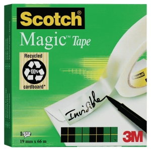 Scotch Magic 810 ruban adhésif invisible 19mmx66 m