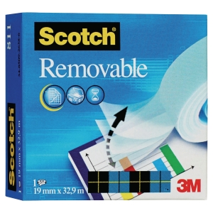 Taśma klejąca SCOTCH 811 Magic Removable matowa, 19 mm x 32,9 m