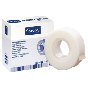 RUBAN ADHESIF LYRECO INVISIBLE 19 MM X 33 M