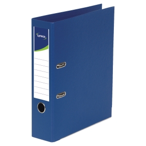 Lyreco Polypropylene Dark Blue A4 Upright Lever Arch File - Box Of 10