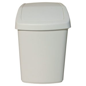 Swing sanitary bin 9 L white