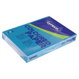 Lyreco coloured paper A3 80g caribbean blue - pack of 500 sheets