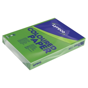 Lyreco coloured paper A3 80g grass green - pack of 500 sheets