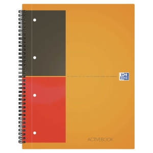 CAHIER SPIRALE PERFORE ACTIVEBOOK A4+ 001INTERNATIONAL 80G QUADRILLE 5X5