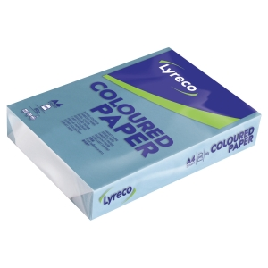 Lyreco coloured paper A4 80g dark blue - pack of 500 sheets