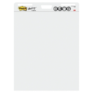 Post-it® Meeting Charts Vit 559 30 ark pr. block 77,5cm x 63,5cm 2st/pk
