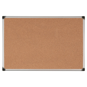ALUMINIUM FRAMED CORK NOTICE BOARD 900MM X 1800MM