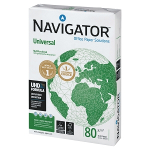 Navigator Universal Paper A4 80gsm White - Box of 5 Reams (500 Sheets Per Ream)