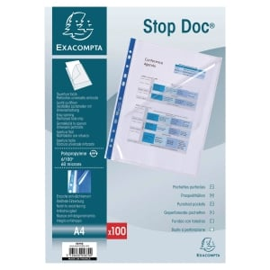 BX100 STOP DOC PUNCHED POCK PP 7/100