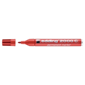 Permanent merkepenn Edding 2000c, rund spiss, rød