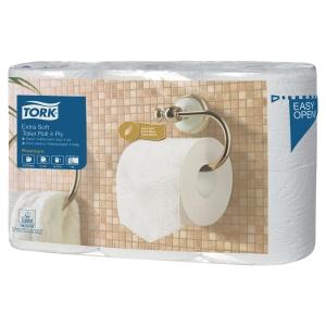 Tork Extra Soft traditioneel toiletpapier extra zacht 4-laags - pak van 6