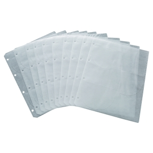 CD FILING POCKETS 6 CD CAPACITY - PACK OF  10