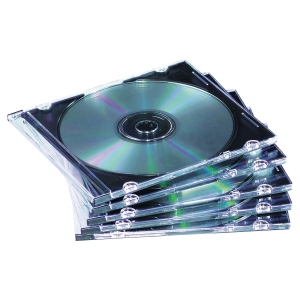 FELLOWES 98316 CD SLIM CASES - BLACK - PACK OF 25