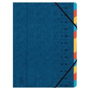 Třídicí kniha Exacompta Manilla s gumičkou - 12-dílná