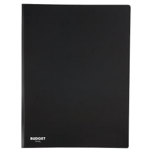 LYRECO BUDGET PP DISPLAY BOOK, A4, 20 POCKET/40 VIEWS - BLACK