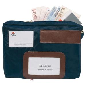 Sacoche pour devises à soufflet en nylon Alba 190x270x40 bleu S