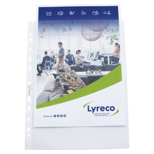 Lyreco extra wide punched pockets 12/100e PP - pack of 25