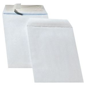 Bags 250x353mm peel and seal 90g white - box of 250