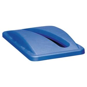 Coperchio con fessura per carta per sistema Slim Jim Rubbermaid blu