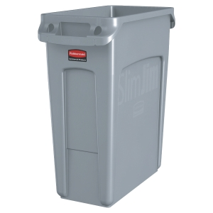 COLLECTEUR SLIM JIM RUBBERMAID 60 L GRIS