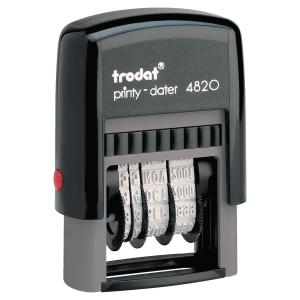 DATARIO AUTOINCHIOSTRANTE TRODAT PRINTY 4820 - 4 MM PLASTICA RICICLATA