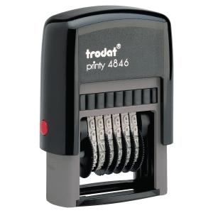 Tampon numéroteur Trodat Printy 4846 - 6 chiffres - encrage automatique