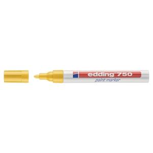 Lackmarker edding 750, Rundspitze, Strichstärke: 2-4 mm, gelb