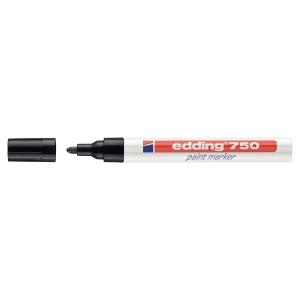 Lakový popisovač Edding 750, guľatý hrot, čierny