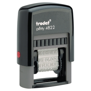 Trodat 4822 Printy Self-Inking Phrase Stamp - 4mm Character Size