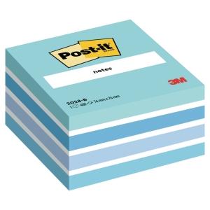 3M Post-it® 2028 Klebeblöcke im Würfelblock 76x76mm, blau, Pack. 450 Blatt