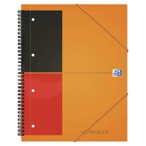 MEETINGBOOK OXFORD INTERNATIONAL A4+ 160 PAGES PERFOREES LIGNE 6 MM